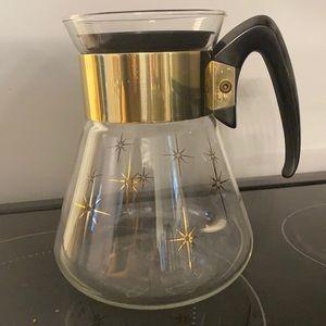 Vintage Corning atomic starburst coffee carafe